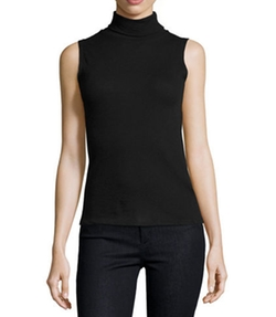 Sleeveless Cashmere Turtleneck Top by Majestic Paris for Neiman Marcus in Riverdale