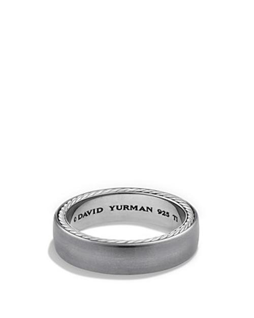 Streamline Narrow Band Ring by David Yurman in The Judge
