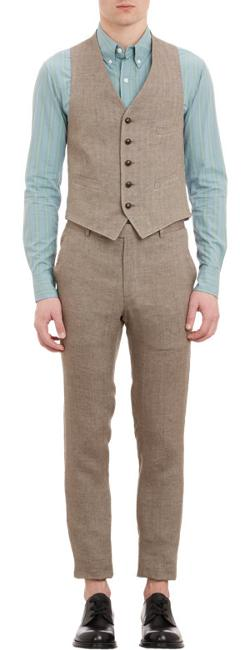 Herringbone Waistcoat by Band of Outsiders in Unbroken