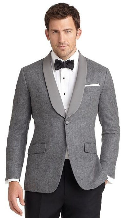 Fit One-Button Shawl Collar Dinner Jacket by Milano in Sex and the City 2