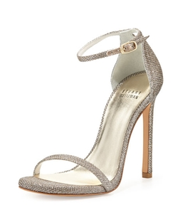 Nudist Ankle-Strap Sandals by Stuart Weitzman in Mistresses