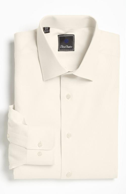 Royal Oxford Regular Fit Dress Shirt by David Donahue in Mortdecai