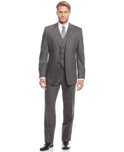 Grey Flannel Vested Slim-Fit Suit by Lauren Ralph Lauren in The Boy Next Door