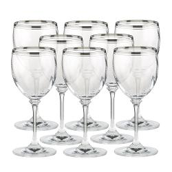Crystal Wine Glasses by Stephanie Platinum in The Other Woman