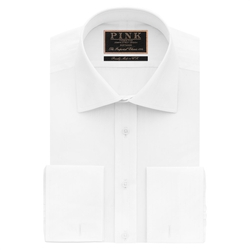 Callow Texture Classic Fit Double Cuff Shirt by Thomas Pink in Steve Jobs