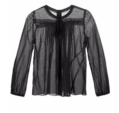 Pleated Voile Blouse by Marc Jacobs in Pretty Little Liars - Season 7 Preview