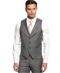 Vest Mid-Grey Stepweave Slim Fit by Alfani RED in Hot Tub Time Machine 2