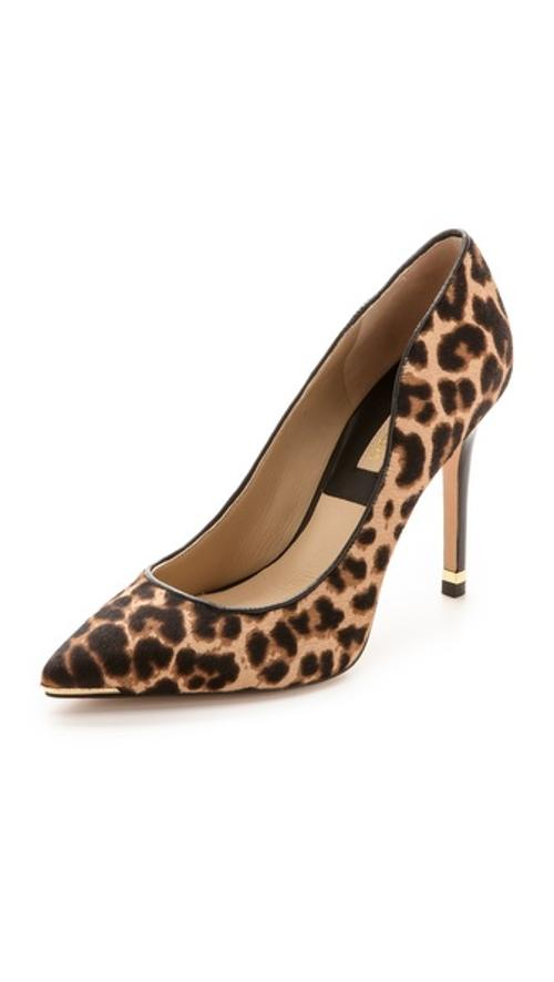 Avra Leopard Haircalf Pumps by Michael Kors Collection in The Other Woman