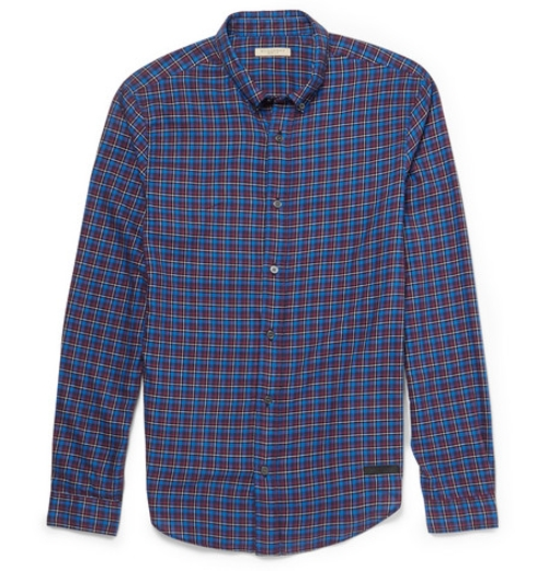 Slim-Fit Checked Cotton Shirt by Burberry Brit in Paper Towns