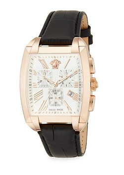 Character Rose Leather Chronograph Watch by Versace in Ballers