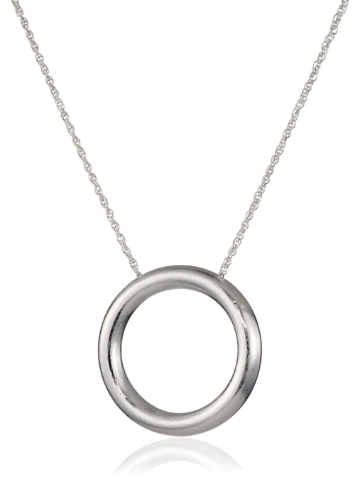 Silver Circle Pendant Necklace by Dean Davidson in Furious 7