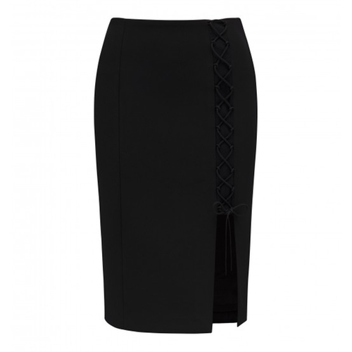 Kylie Lace Up Pencil Skirt by Forever New in Keeping Up With The Kardashians - Season 11 Episode 13