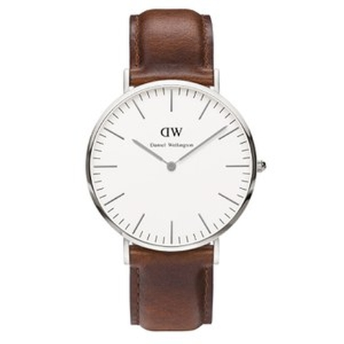 St Mawes Silver Watch by Daniel Wellington Classic in The Walk