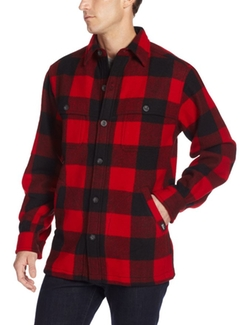 Men's Wool Stag Shirt Jacket by Woolrich  in Justice League