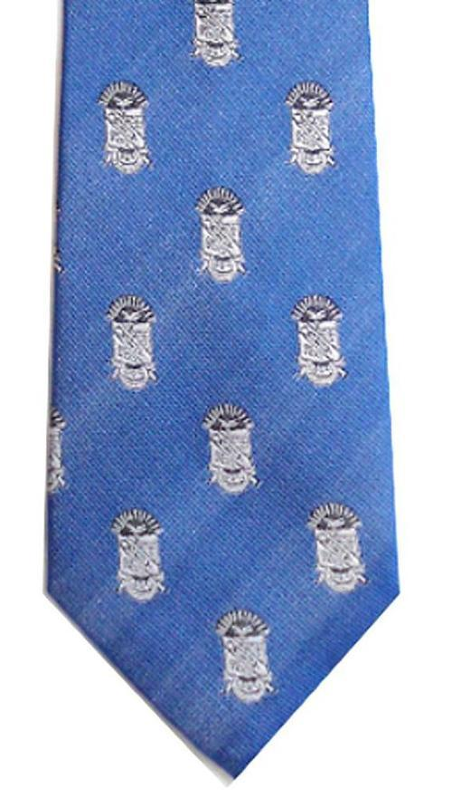 Phi Beta Sigma Fraternity Blue White Shield Necktie by Nathan J. in Neighbors