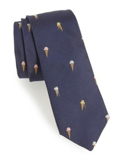 Blue Ice Cream Cone Silk Tie by Paul Smith in Dirk Gently's Holistic Detective Agency