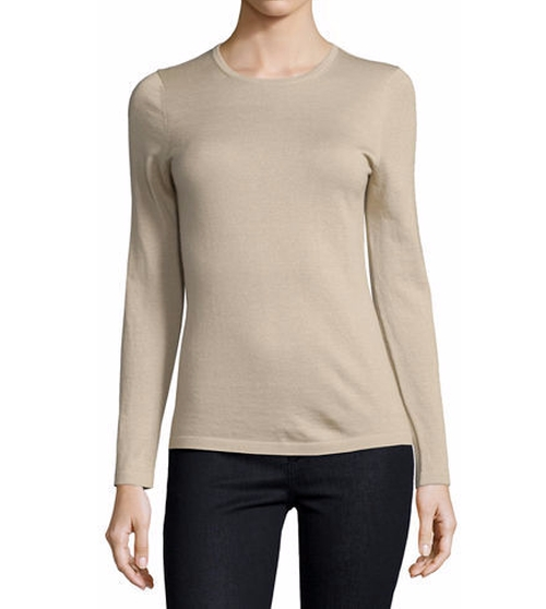 Superfine Cashmere Modern Crewneck Sweater by Neiman Marcus Cashmere Collection in American Housewife - Season 1 Preview