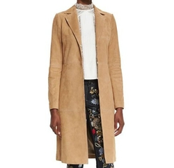 Logan Suede Mid-Length Coat by Alice + Olivia in How To Get Away With Murder
