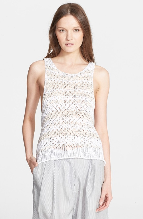 Stripe Loose Knit Tank Top by Rag & Bone in Love & Mercy
