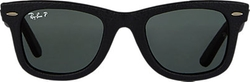 Leather Wayfarer Sunglasses by Ray-Ban in Ballers