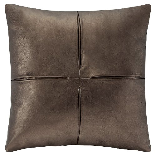 Faux Leather Square Pleated Pillow by Target in Get Hard