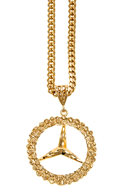 Chicago Clout Club Gold pendant by Big Benz in Dope