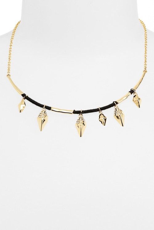 Liquid Charm Frontal Collar Necklace by Alexis Bittar in Pretty Little Liars - Season 6 Episode 5