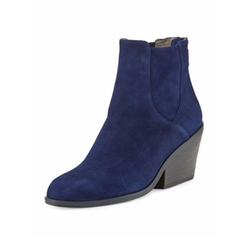 Peer Suede Ankle Boots by Eileen Fisher in Fuller House
