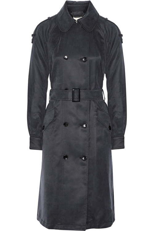 Washed Cotton-Blend Trench Coat by Ashley B in How To Get Away With Murder - Season 2 Episode 11