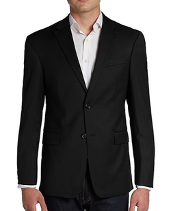 Trim-Fit Wool Two-Button Sportcoat by Tommy Hilfiger in Rosewood
