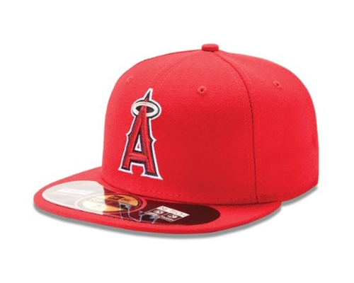 Los Angeles Angels Authentic On Field Game  Cap by New Era in Sisters