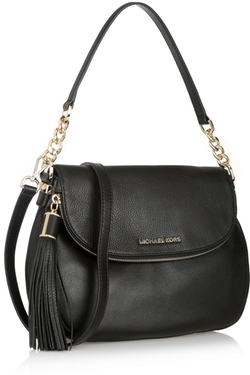 Bedford Textured-Leather Shoulder Bag by Michael Michael Kors in Survivor