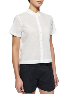 Short-Sleeve Cotton Blouse by ATM in Elementary