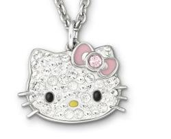 Hello Kitty Cute Mini Pendant by Swarovski in Couple's Retreat