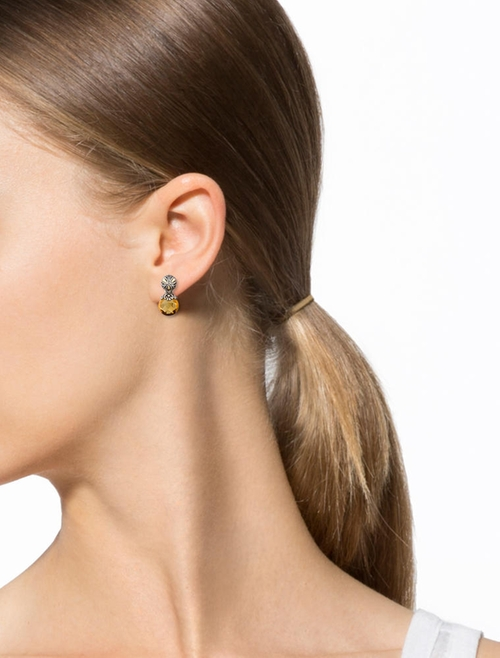 Citrine Drop Earrings by John Hardy in Suits
