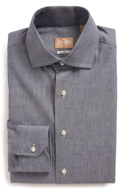 Tailored Fit Chambray Dress Shirt by Gitman in The Flash