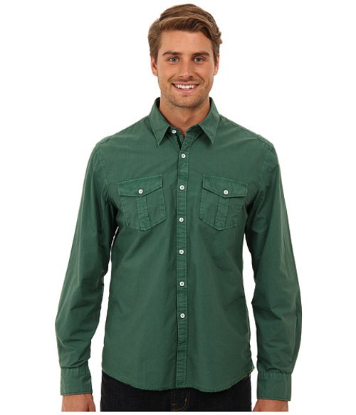 Double Pocket Long Sleeve Button Down Shirt by Arnold Zimberg in If I Stay