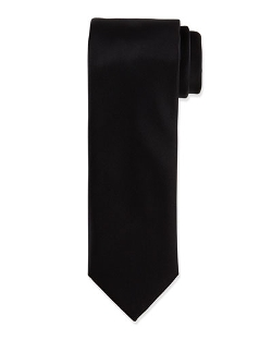 Solid Silk Satin Tie by Brioni in Southpaw