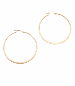 Small Hoop Earrings by Jennifer Zeuner Jewelry in Chelsea