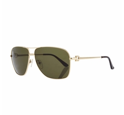 Navigator Metal Aviator Sunglasses by Salvatore Ferragamo in Sleepless