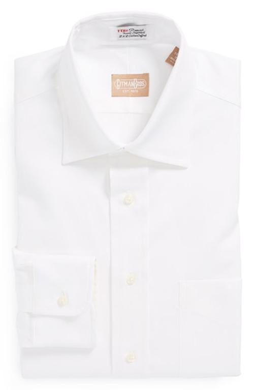Regular Fit Pinpoint Cotton Oxford Point Collar Dress Shirt by GITMAN in This Is Where I Leave You