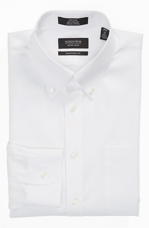 Traditional Fit Solid Dress Shirt by Nordstrom in Mamma Mia!