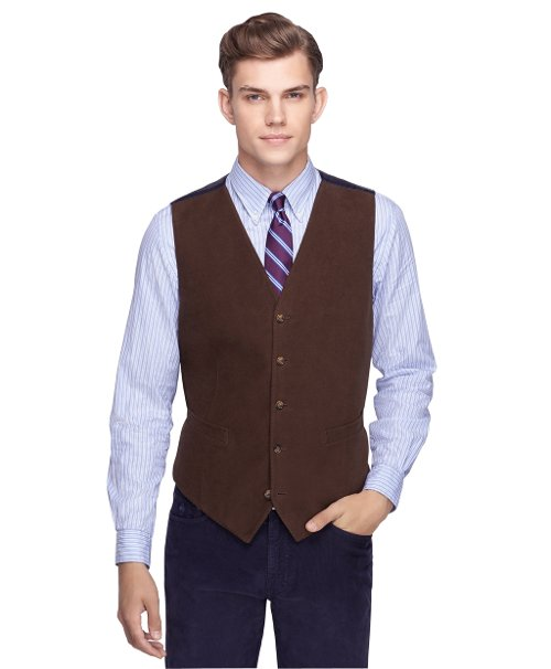Brushed Cotton Vest by Brooks Brothers in While We're Young