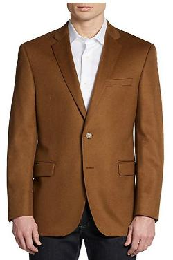 Cashmere Two-Button Classic-Fit Blazer by Saks Fifth Avenue BLACK in Mortdecai