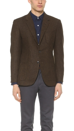 Tweed Herringbone Blazer by Brooklyn Tailors in Clueless