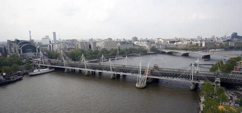 Hungerford Bridge and Golden Jubilee Bridges London, United Kingdom in Survivor