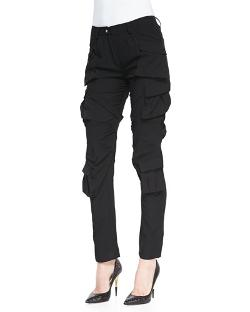 Modern Slim Crepe Cargo Pants by Altuzarra in The Other Woman