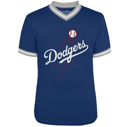 Logo Eephus V-Neck Jersey T-Shirt by Los Angeles Dodgers in Straight Outta Compton
