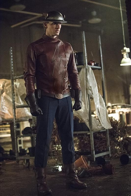 "Custom Made ""The Flash"" Outfit by Kate Main (Costume Designer) in The Flash - Season 2 Episode 2"
