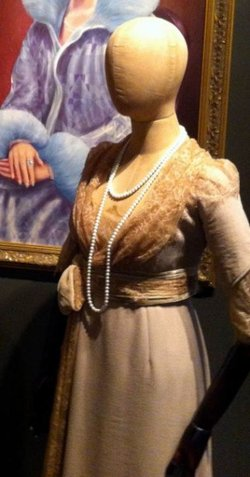Custom Made Quarter Sleeve Chiffon Dress (Daisy's Mother) by Catherine Martin (Costume Designer) in The Great Gatsby